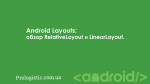 Android Layouts: обзор RelativeLayout и LinearLayout