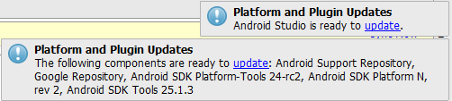 android studio update