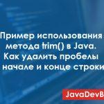 Пример использования метода trim в Java: как удалить пробелы в начале и конце строки?